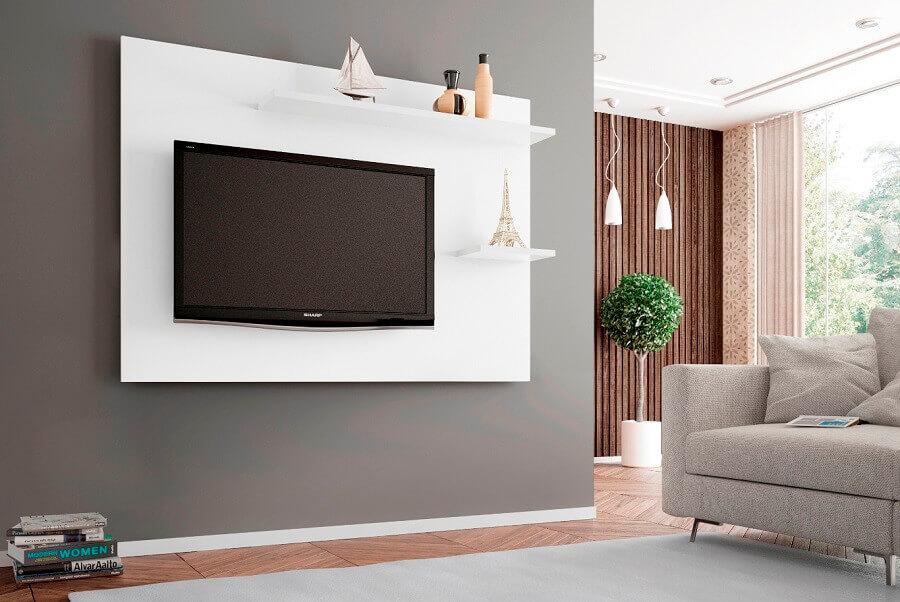 cores para sala com painel branco Foto Decoração de Casa