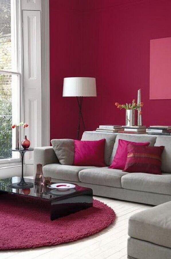cores para sala com sofá cinza Foto Espaço Casa