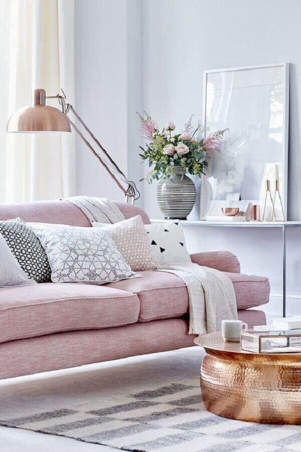 cores para sala com sofá rosa Foto Home Design Ideas