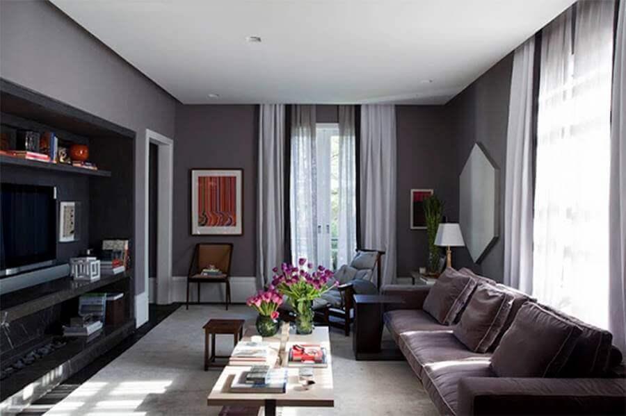 cores para sala de tv moderna Foto Pinterest