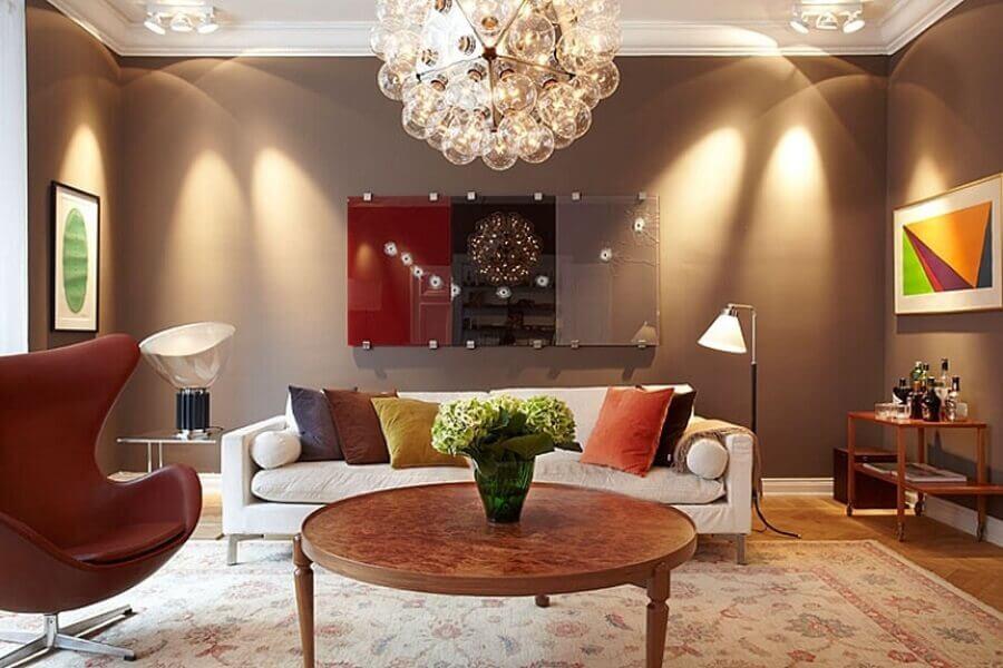 cores para sala moderna Foto Nina May Designs