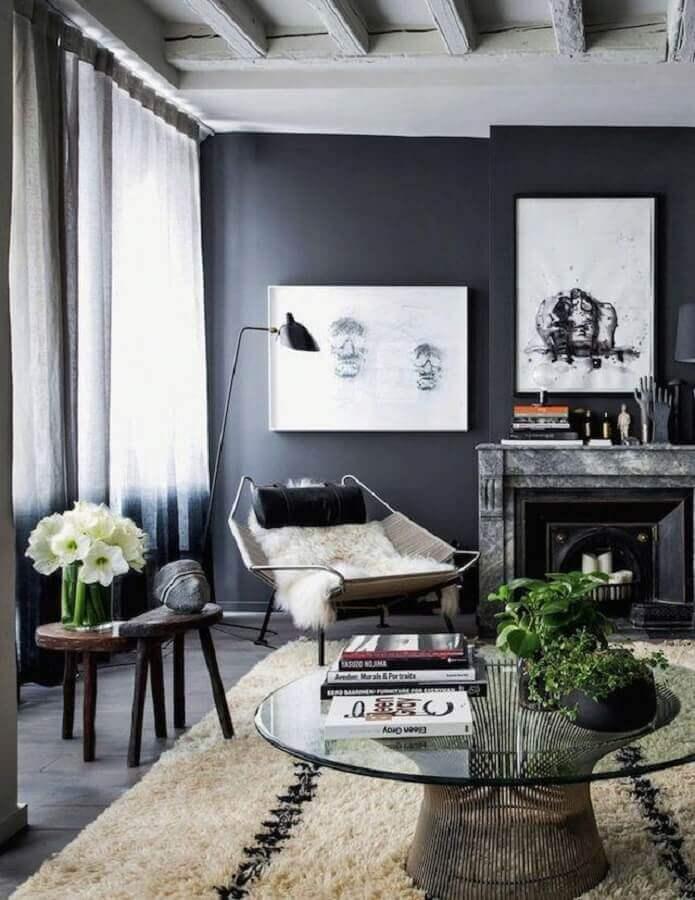 cores para sala toda cinza Foto Revista Interiores