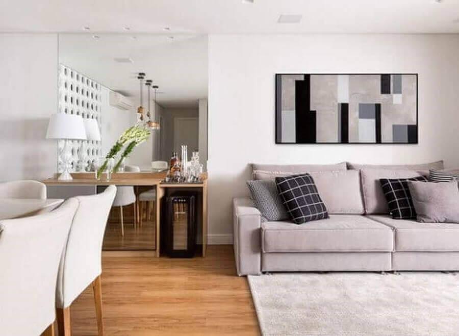 decoração em tons claros para sala Foto Casa Moderna Móveis