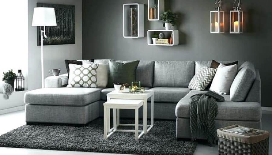 decoração em tons de cinza para sala Foto Chauffage Exterieur Design