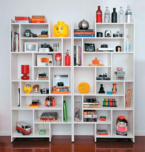 decorar estantes itens decorativos