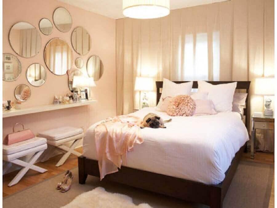 espelhos decorativos para quarto redondo