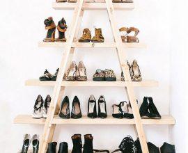 estante rústica para guardar sapatos