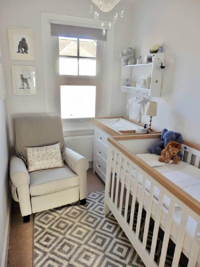ideia de decoração para quarto de bebê pequeno