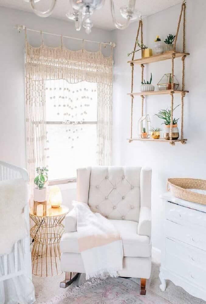 ideias para quarto de bebê com decoração simples e delicada