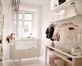 ideias para quarto de bebê decorado com cabideiro