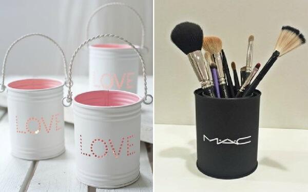 As latas podem ser utilizadas de diferentes formas