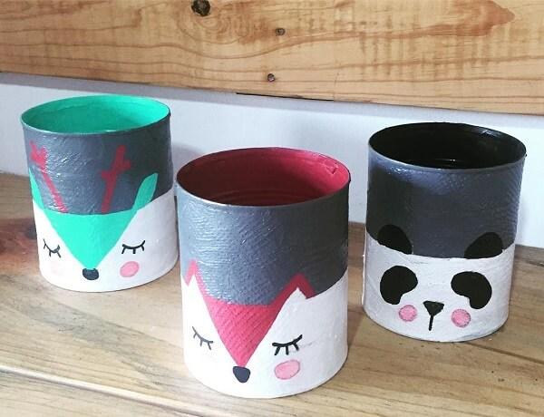 Pinte de forma criativa as latas de alumínio
