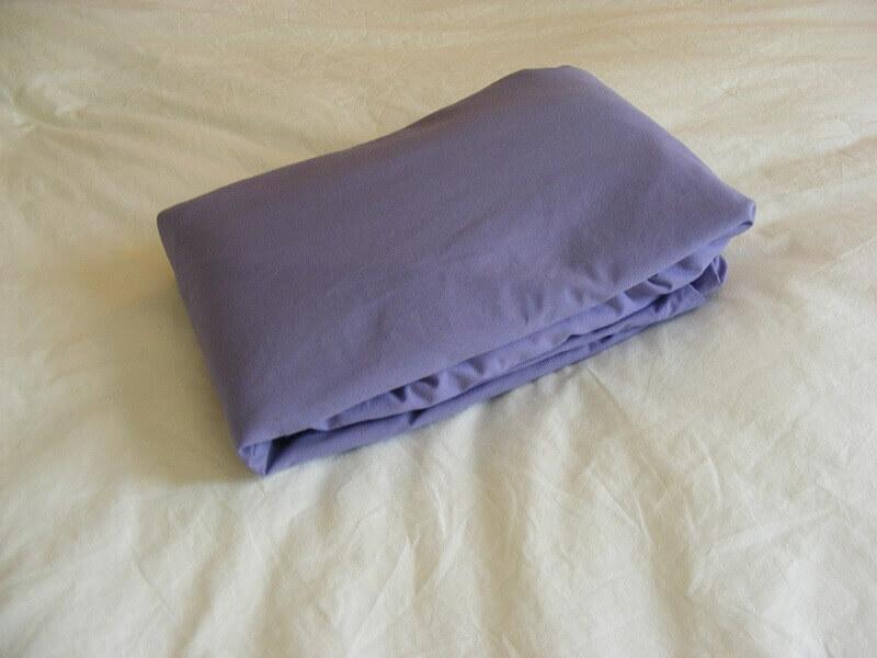 lençol de elástico dobrado