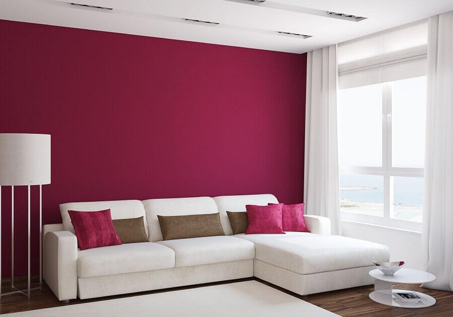 melhores cores para sala com sofá branco Foto Home & Decor Malaysia