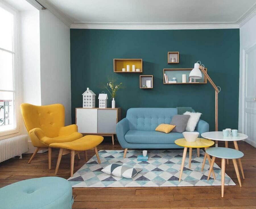 melhores cores para sala pequena Foto Case practice