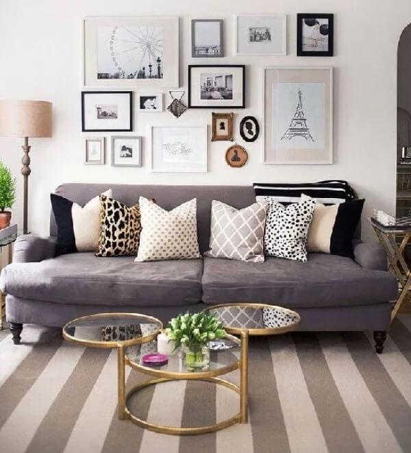 Almofadas decorativas para a sala de estar