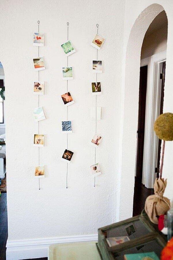 modelo de mural de fotos na parede