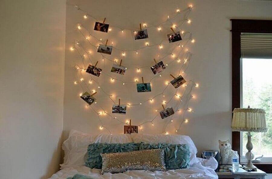 modelo de mural de fotos para quarto