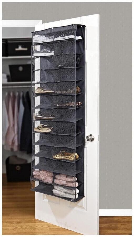 modelo de organizador para guardar sapatos atrás da porta