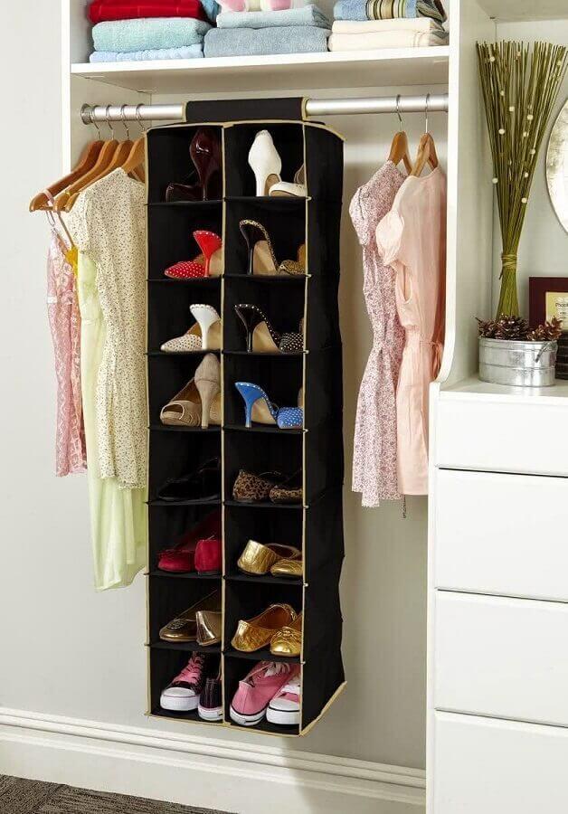modelo de organizadores de sapatos para guarda roupa
