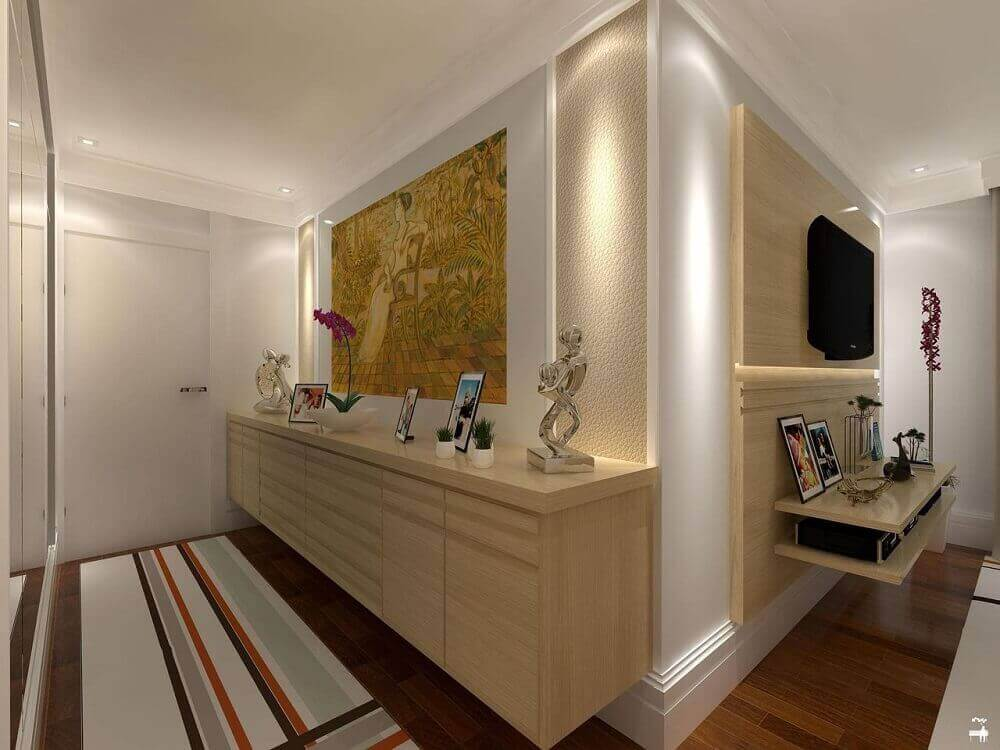 modelo planejado de aparador para hall de entrada de apartamento