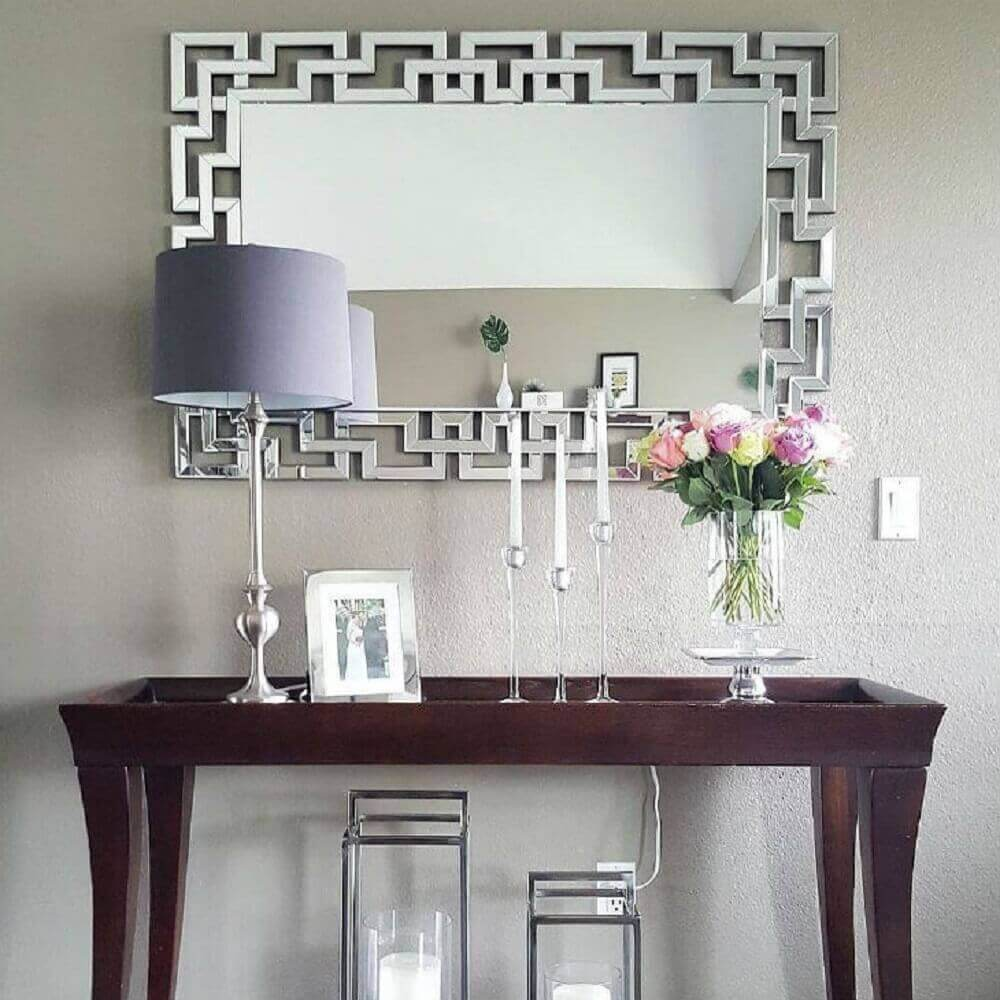 modelos de aparadores para hall de entrada decorado com espelho