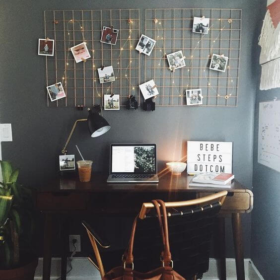 Mural de fotos para escritório