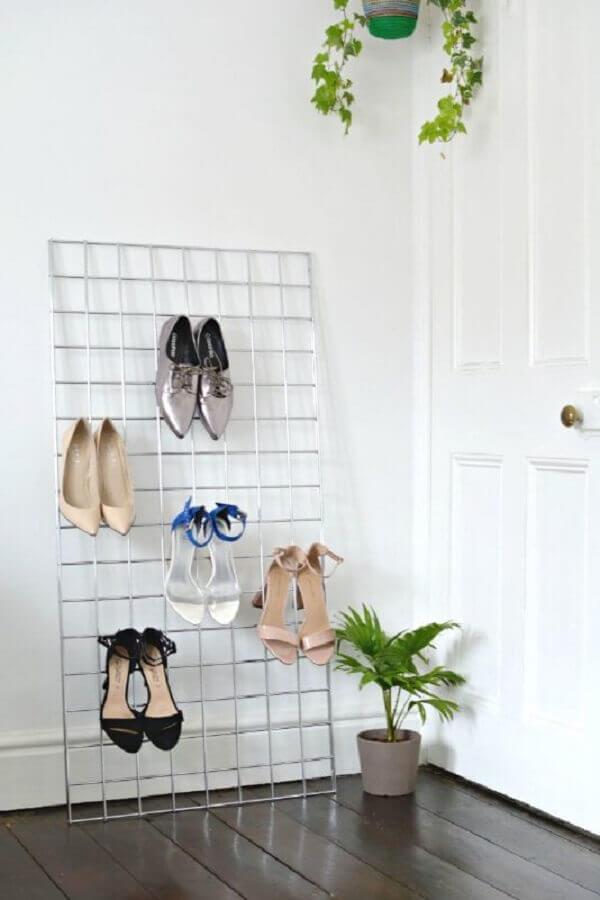 mural de recados como organizador de sapatos