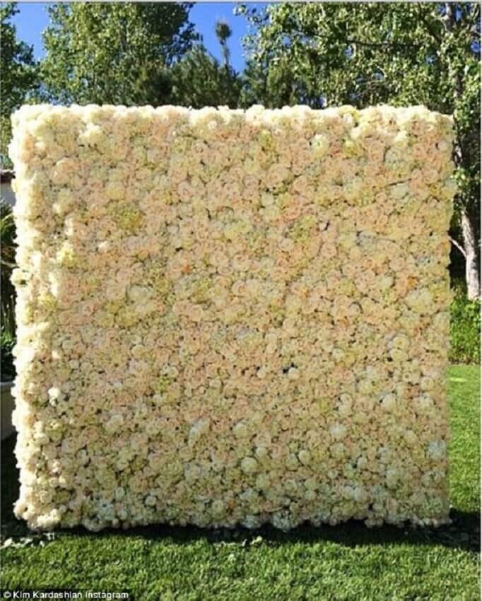 painel de flores naturais