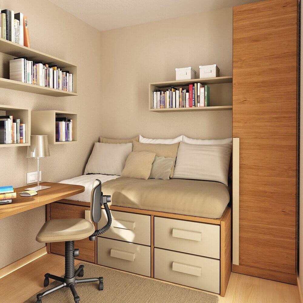 paleta de cores bege para quarto pequeno