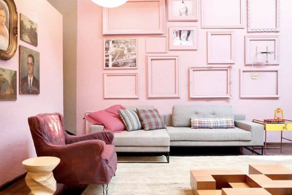 Paredes decoradas com quadros
