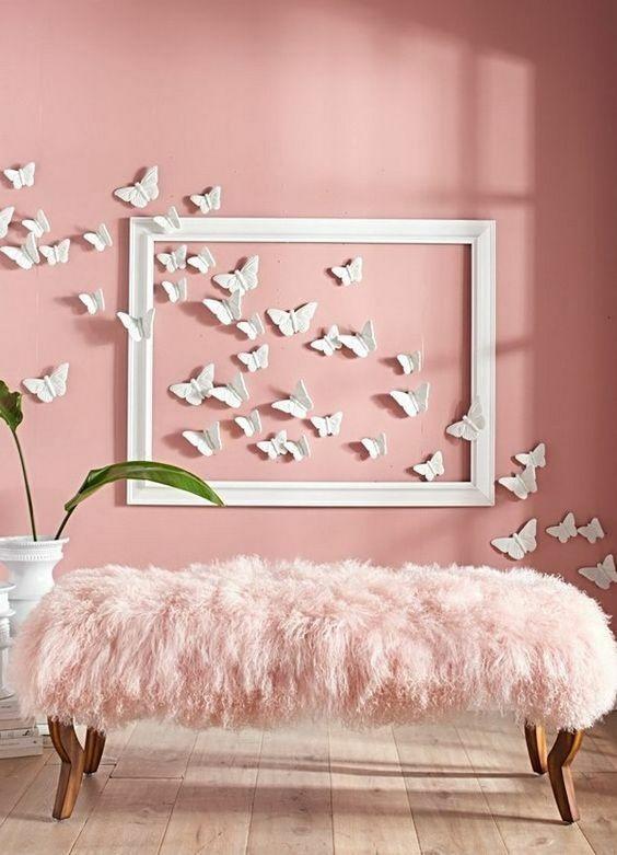 Paredes decoradas om borboletas