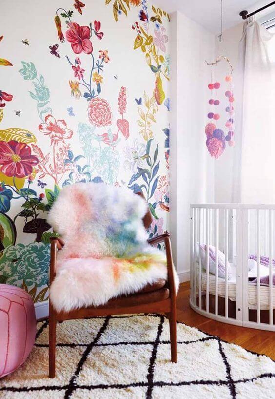 Paredes decoradas com flores