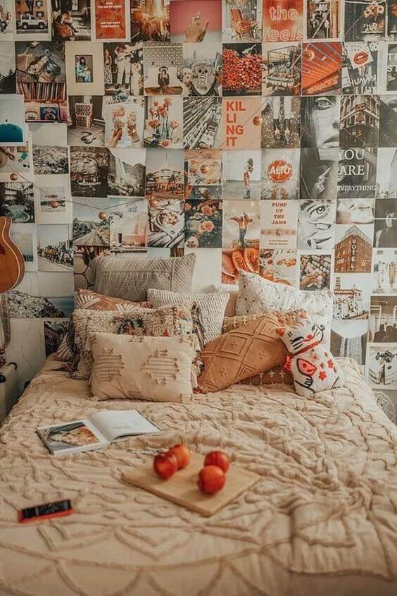 Paredes decoradas com fotos moderno