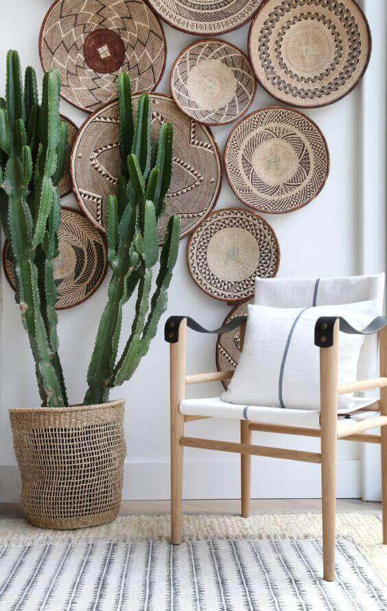 Paredes decoradas com cerâmica