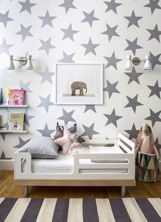 Papel de parede de estrela decorada