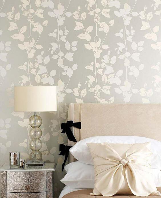 Paredes de quarto decoradas com papel de parede