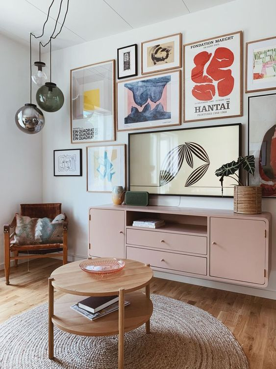 Paredes decoradas para sala de estar