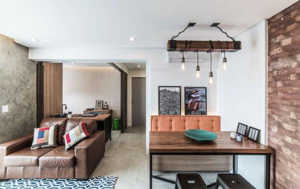 Paredes decoradas para sala de jantar integrada super moderna