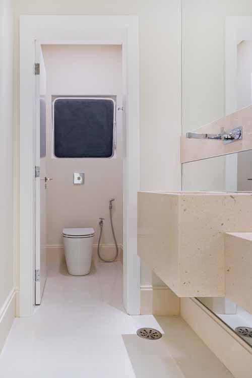 Piso para banheiro simples