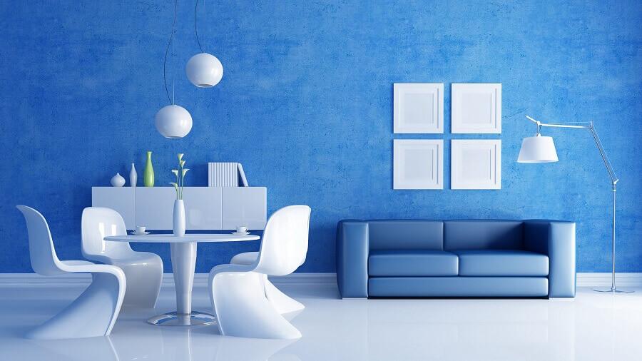 sala toda azul Foto 3DKonut