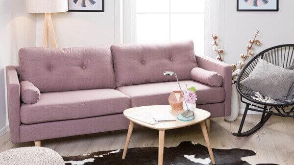 Salas modernas sofá rosa
