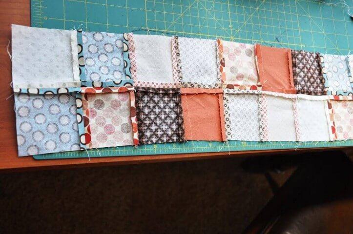 2Retalhos de patchwork costurados