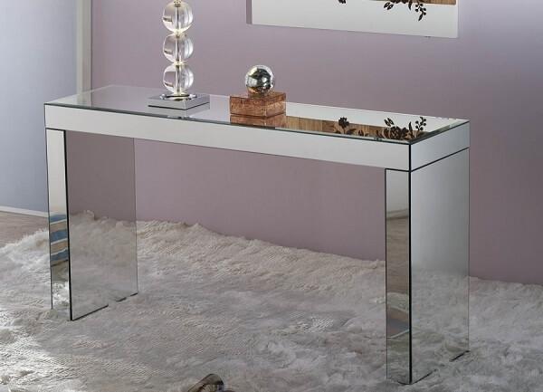 Aparador espelhado de vidro