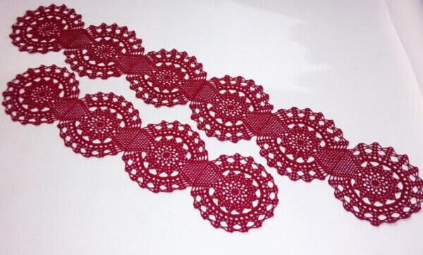 Crochê caminhos de mesa de crochê