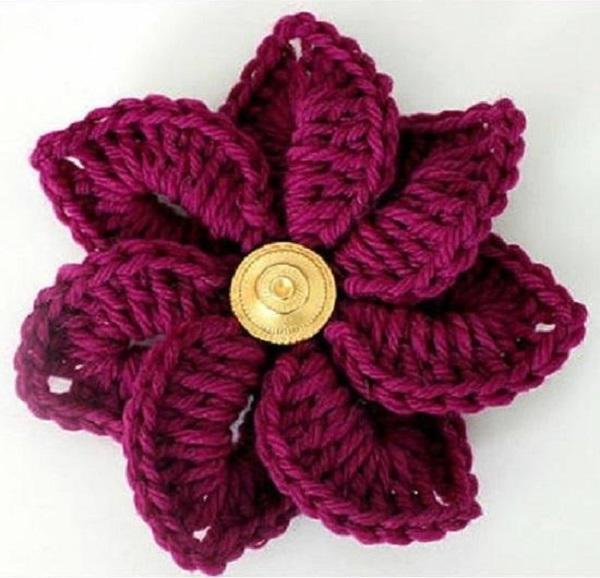 Crochê flor delicada crochê