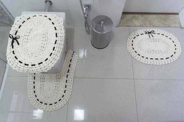 Crochê jogo do banheiro