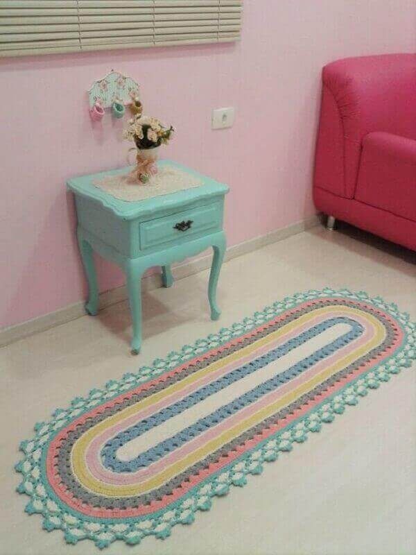Crochê tapete para quarto