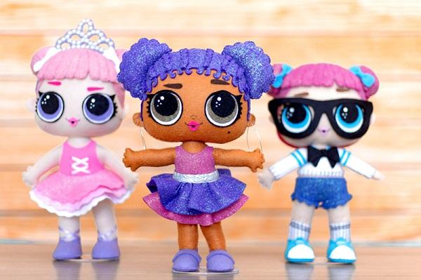 Decoração infantil feltro bonecas