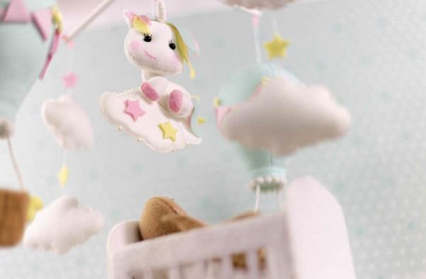 Decoração infantil feltro mobile